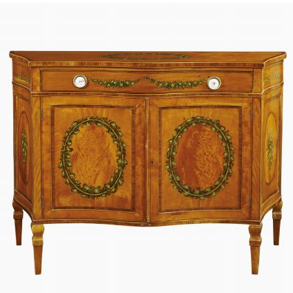 A satinwood sideboard