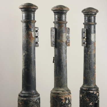 Reclaimed cast iron English street bollards