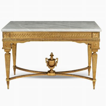 Gilt wood centerpiece table