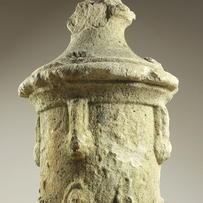 Antique Ex Holkham Estate Urn Stone Finials
